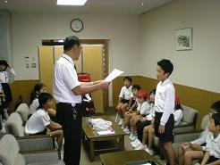 校長先生からの表彰状に緊張しました・・・