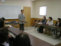 閉級式で公民館の歴史等について話しました。