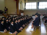 謡曲「鶴亀」で厳粛な卒業式に
